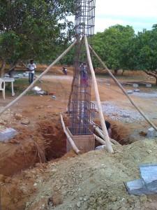 01-08-2013 - Dettaglio di costruzione di una colonna del Gate