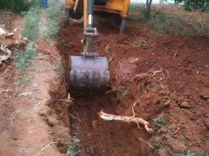 11-07-2013 - Scavi per le fondamenta delle mura di cinta