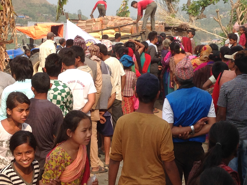 Detail of Humanitarian Mission to Nepal - May 2015
