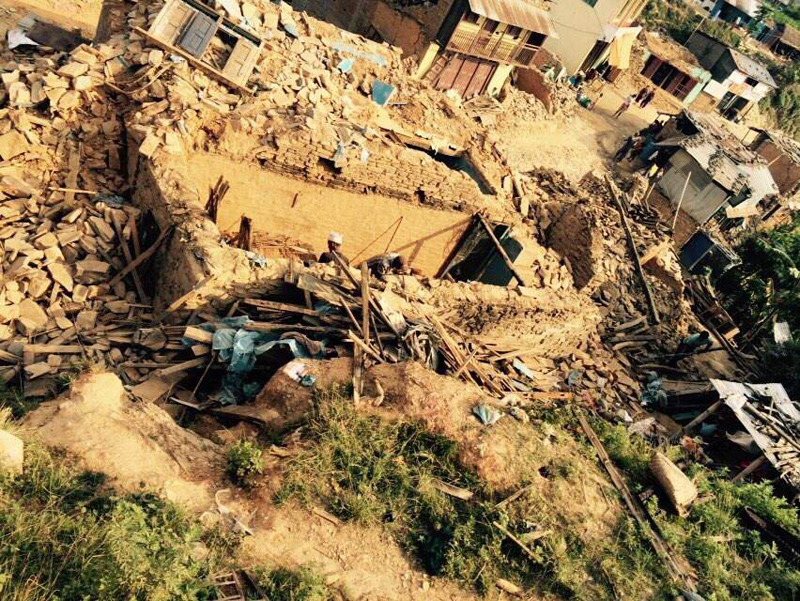 Effects of the earthquake in Nepal - April 2015